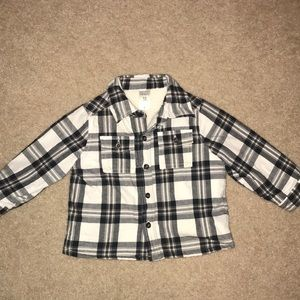Carters Sherpa Lined Jacket Plaid 12 Months Boy